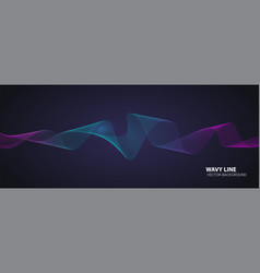 dynamic flowing waves twisted lines isolated on vector image