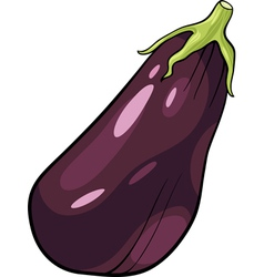 Eggplant vegetable cartoon vector