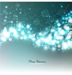 Elegant Christmas background with snowflakes and vector image