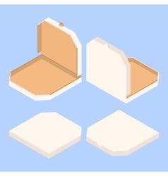 empty isometric pizza boxes vector image