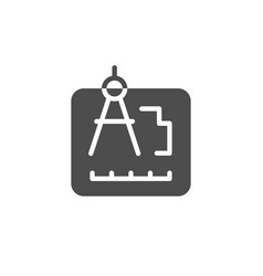 Engineering document or architect project icon vector