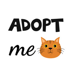 Flat cartoon cat icon design adopt me vector