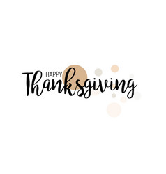 flat design style happy thanksgiving day logotype vector image