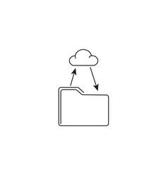 Folder cloud sync icon vector