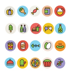 Food Colored Icons 12 vector