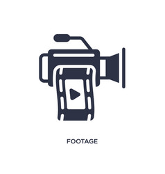 Footage icon on white background simple element vector