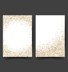 gold sparkles on white background banners gold vector image