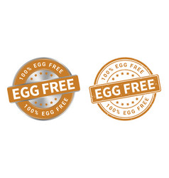 grunge stamp and silver label egg free vector image