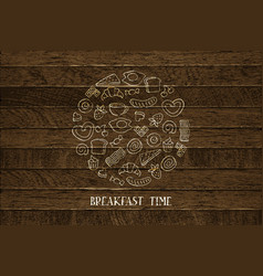 hand drawn breakfast vector image