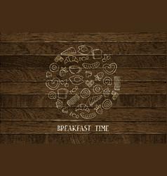 hand drawn breakfast vector image