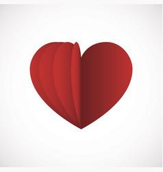 heart love flat design icon vector image