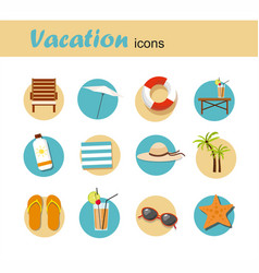 icon set summer vacation and tourism infographic vector image