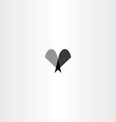letter v icon sign black logo vector image
