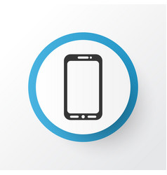 Mobile phone icon symbol premium quality isolated vector