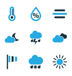 Nature colored icons set collection of vector