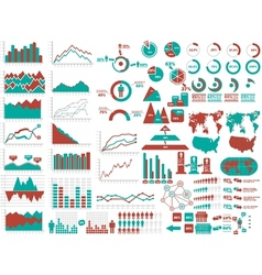 NEW STYLE WEB ELEMENTS INFOGRAPHIC DEMOGRAPHIC RED vector image