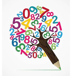 Number variety concept pencil tree vector