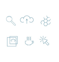 outline web icon set vector image