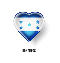 patriotic heart symbol with honduras flag vector image