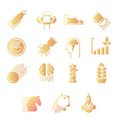 Performance gradient icons vector