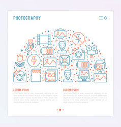 photography concept in half circle vector image