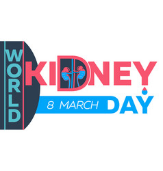 poster kidney day vector image