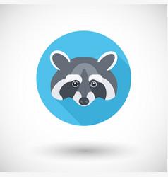 raccoon icon vector image vector image