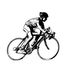Race bicyclist vector