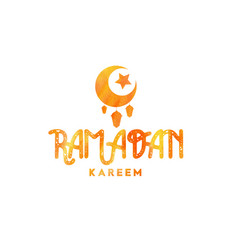 ramadan kareem greetings typography design vector image
