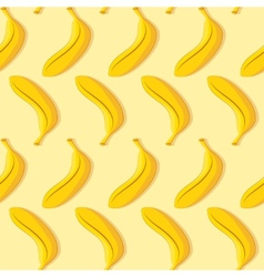 Seamless pattern of yellow banana vector image vector image