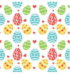 Seamless pattern wirh ornate easter eggs vector