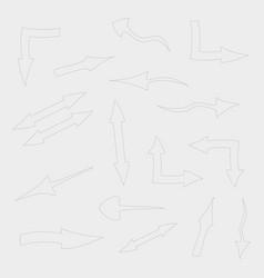 Set of arrow vector