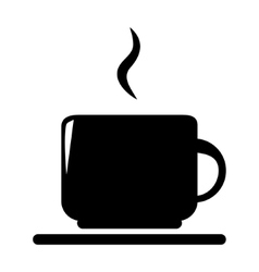 Silhouette of coffee and tea cup isolated vector