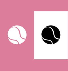 silhouette tennis racket icon on pastel pink vector image