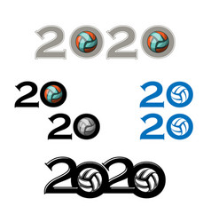 sport ball symbol new 2020 year vector image