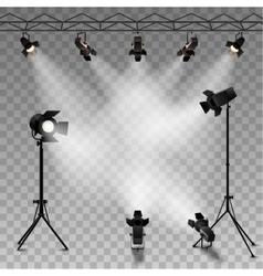 Spotlights transparent background vector
