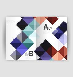 Square annual report brochure a4 print template vector