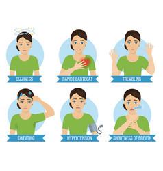 Symptoms panic attack vector