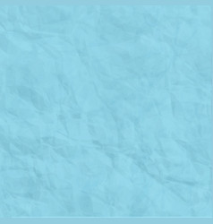 Texture of blue crumpled paper background vector