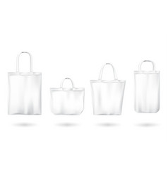 White tote shopping eco friendly bags vector
