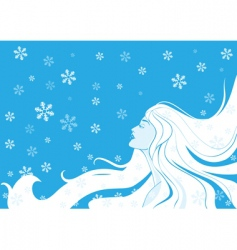 woman winter illustration vector image