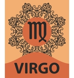 Zodiac sign Virgo Abstract zodiac sign for vector