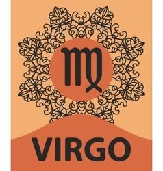 Zodiac sign Virgo Abstract zodiac sign for vector image
