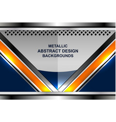 abstract metal backgrounds design vector image vector image