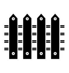 fence icon black sign on vector image