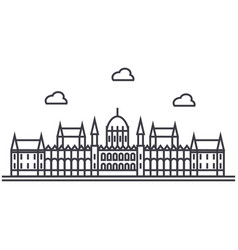 london parliament line icon sign vector image