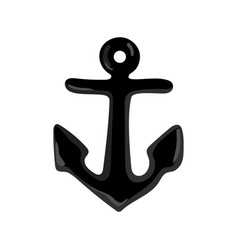 nautical isolated icon with anchor vector image