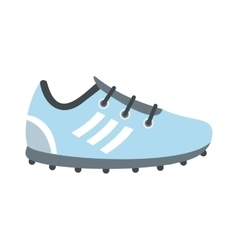 Soccer shoes flat icon vector image