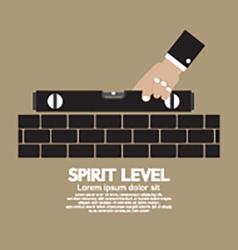 Spirit level engineering measuring equipment vector