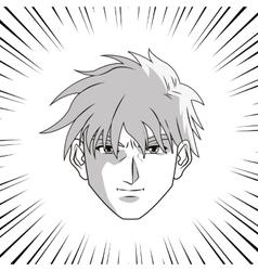 Anime boy cartoon design vector image vector image